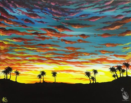 "Painting with a Twist Art Spotlight: ""L.A. Sunset"""