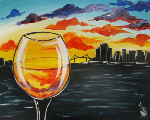 "Painting with a Twist's Art Spotlight: ""Detroit Wine Down"""