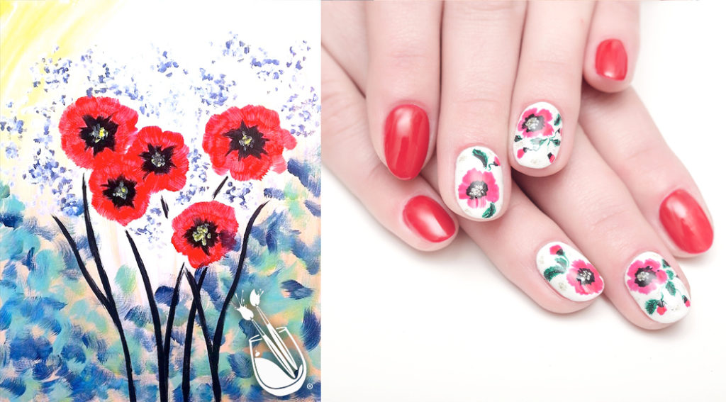 "Painting with a Twist's ""A Pop of Red"" Nail Styles"