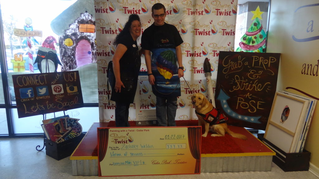 Zachary at Painting with a Twist Franchisee, Sylvia