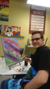 Zachary at Painting with a Twist Cedar Park