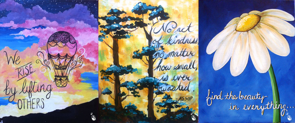 Painting with a Twist - Art with Inspirational Quotes