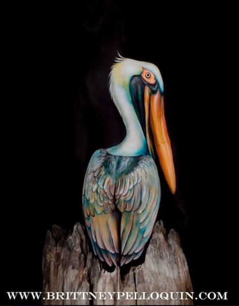 "Body Artist Brittney Pelloquin, ""The Pelican"""
