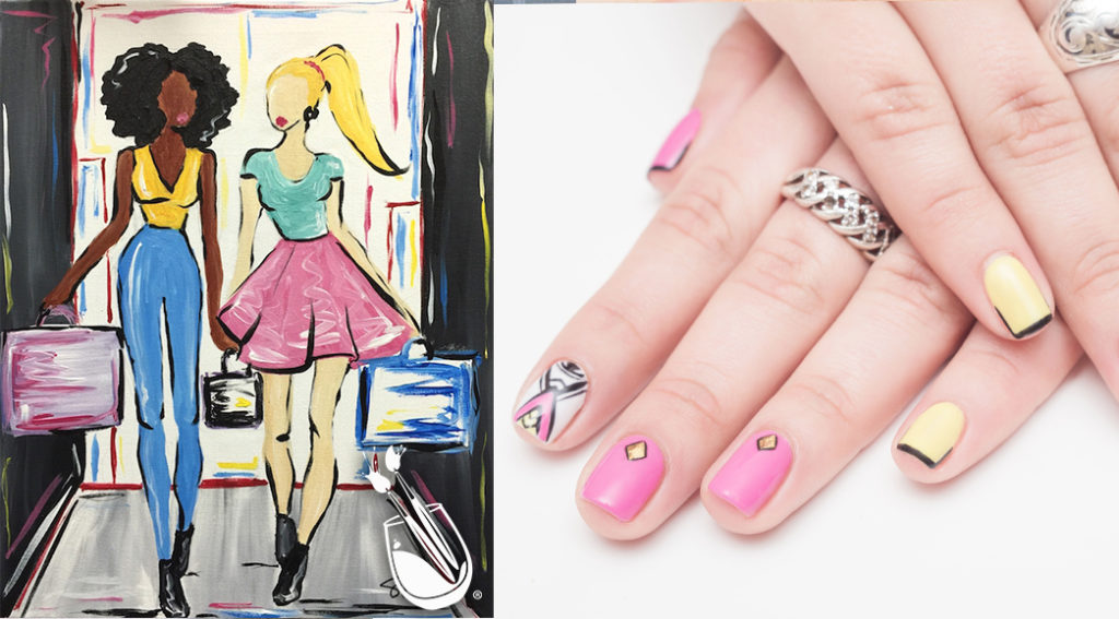 "Painting with a Twist's ""Shop Till You Drop"" Nail Styles"