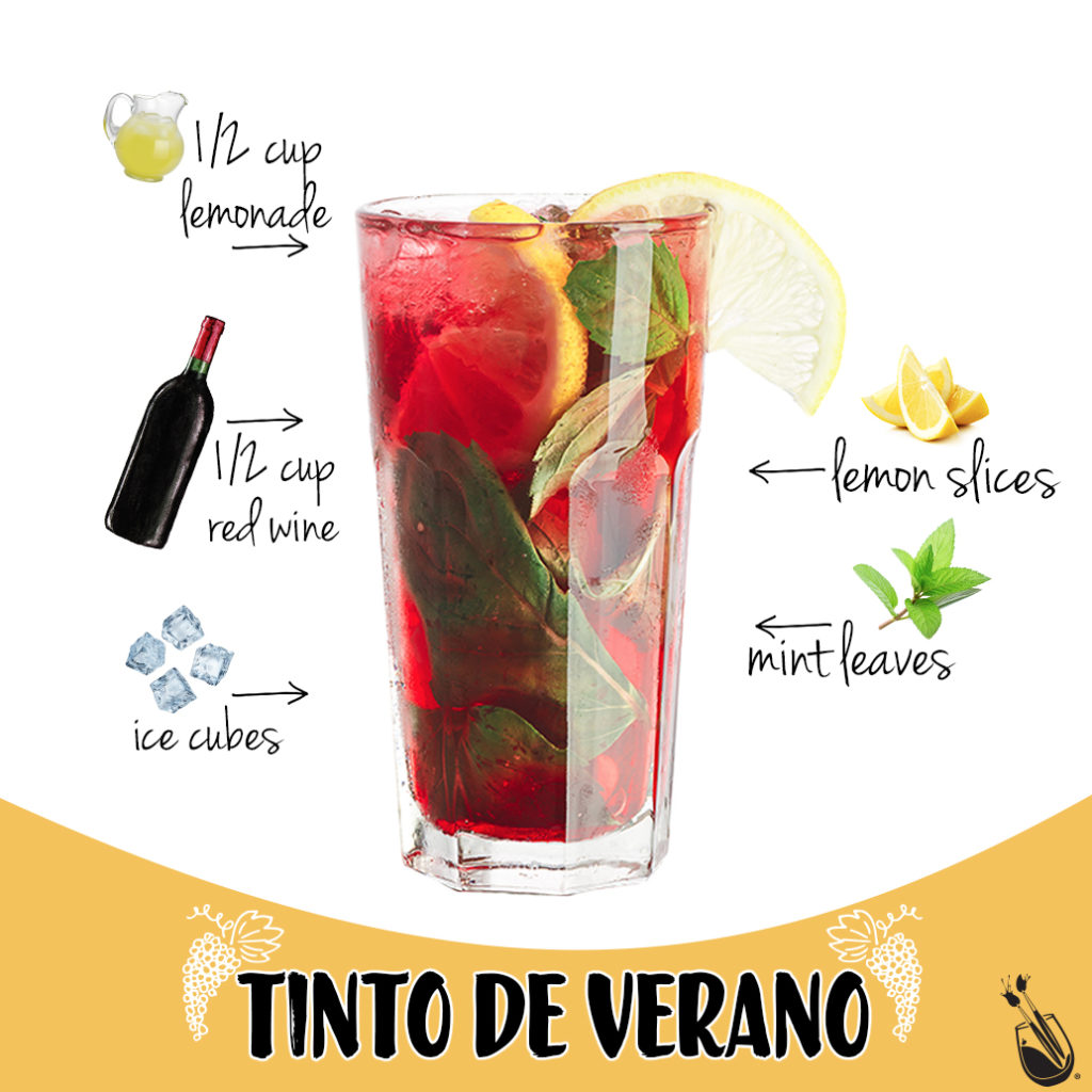 Painting with a Twist Colorful Cocktails: Tinto De Verano