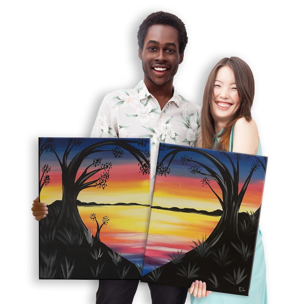 Date Night: Lovely Lake Sunset Set by Painting with a Twist