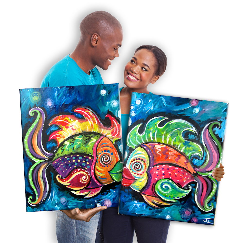Date Night: Wet Kiss Set by Painting with a Twist