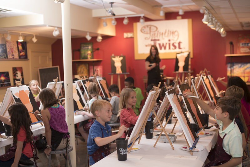Painting with a Twist Kids Camp and Kids Classes