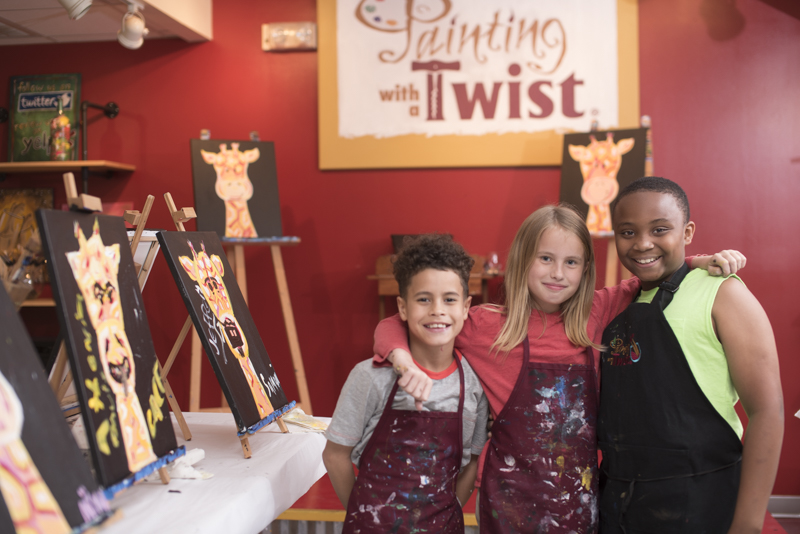 Happiness abounds at Painting with a Twist Kids Camp!