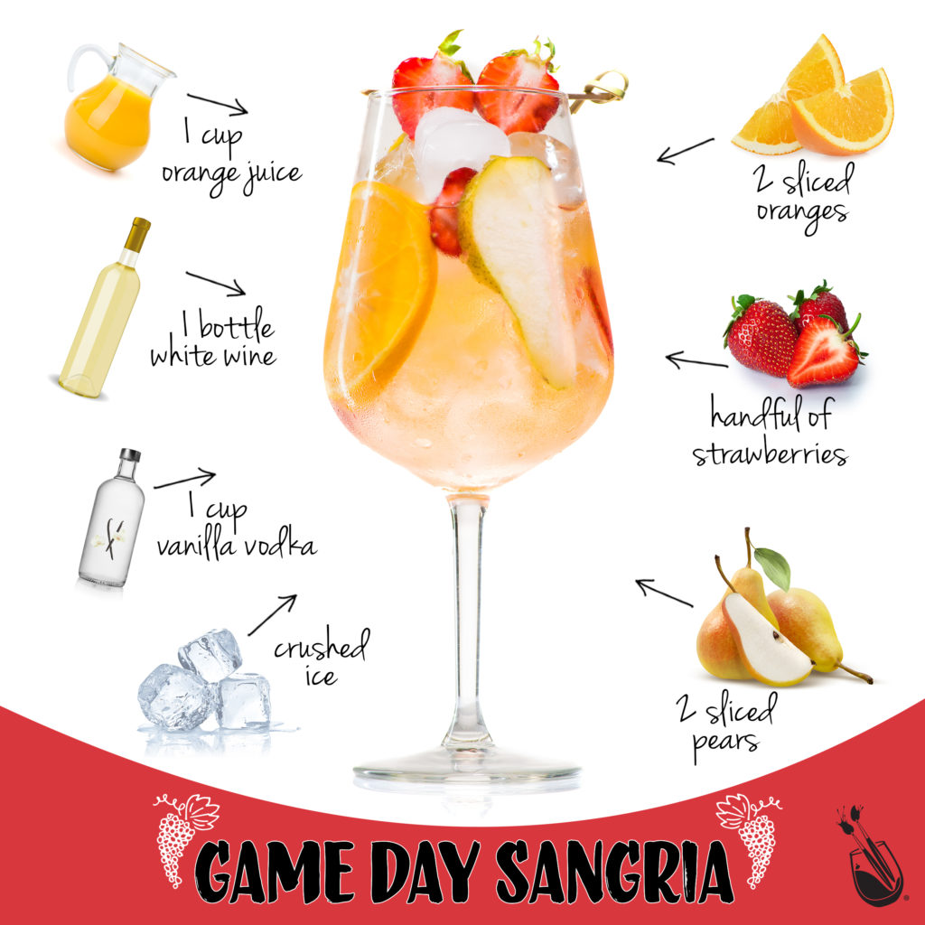 Colorful Cocktails: Game Day Sangria