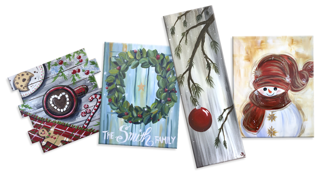 Holiday Painting Party Canvases