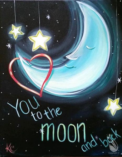 To the Moon & Back Painting
